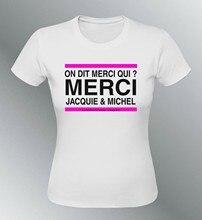 T-shirt personnalisé pour femme, merci jacquie et michelle, amateur de porno, humour x
