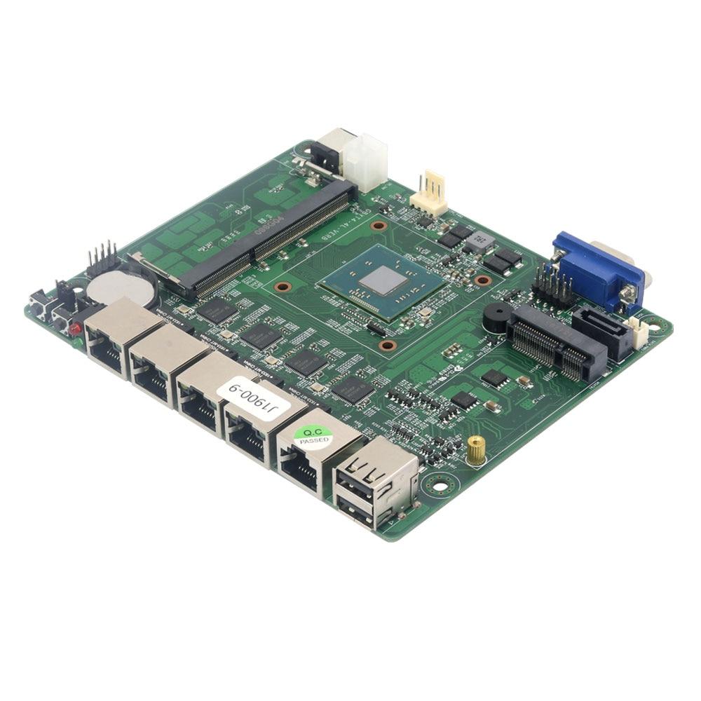 Купить с кэшбэком Fanless Mini PC pFsense Celeron J1900 Quad Core 4 Gigabit LAN Firewall Router Windows 10 Thin Client 4*LAN VGA Mini Computer