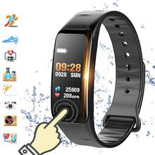 Hot Sale C1S Color Screen Heart Rate Monitor Fitness Tracker Sports Smart Bracelet Watch