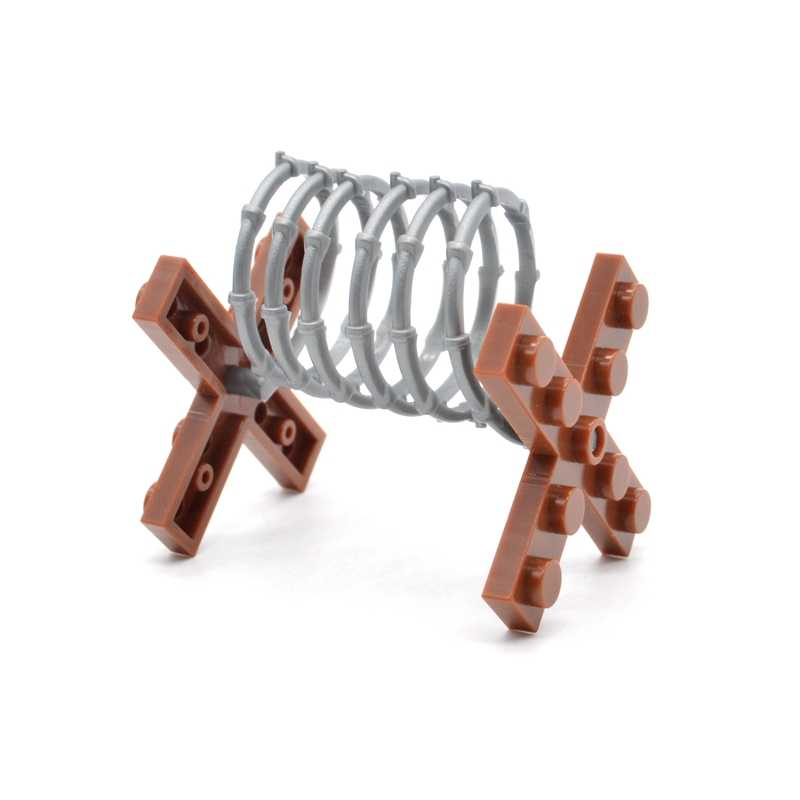 5pcs/lot Military Fence Barbed Wire Protective Equipment Blocks Plastic MOC Building Bricks Gifts Toys for Children