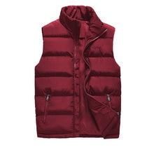 MANTLCONX-gilet classique sans manches, à la mode, en coton, veste thermique épais, à la mode, manteaux décontractés