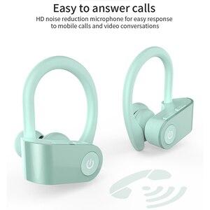 Image 3 - سماعات أذن لاسلكية للركض من Caletop TWS سماعات أذن رياضية مزودة بتقنية البلوتوث مع ميكروفون وسماعات أذن مزودة بخاصية ربط للأذن وإلغاء الضوضاء