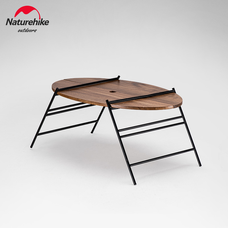 Naturehike New Camping Table Outdoor Foldable Oval Table Portable Camping Picnic Self-driving Car Table Fishing