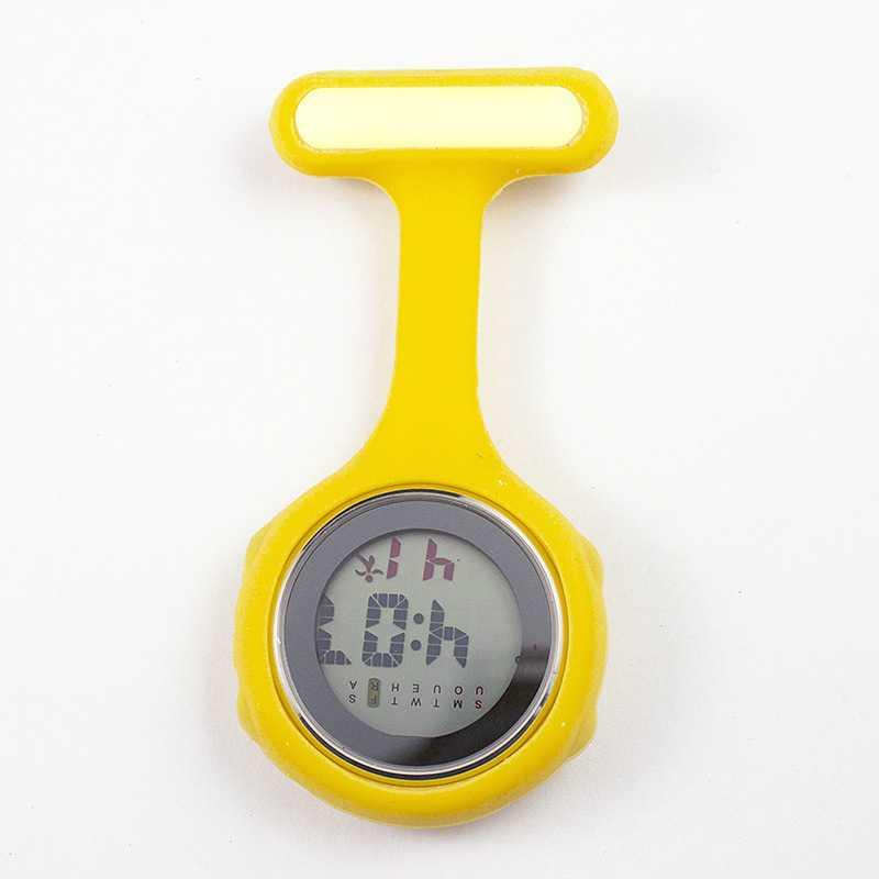 Часы для медсестры карманные часы силиконовые электронные светящиеся календарь желе часы модный тренд - Цвет: Цвет: желтый