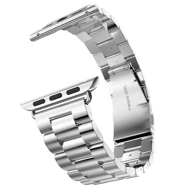 Za Apple Watch Series 5 4 3 2 trak 42 mm 40 mm 44 mm črni adapter za - Dodatki za ure - Fotografija 4