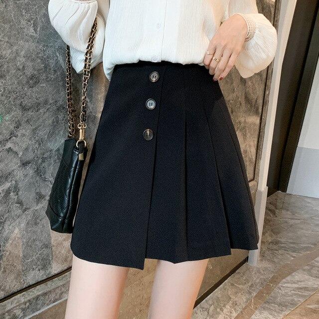 2020  pink skirt  white pleated skirt  white skirt  skater skirt 4