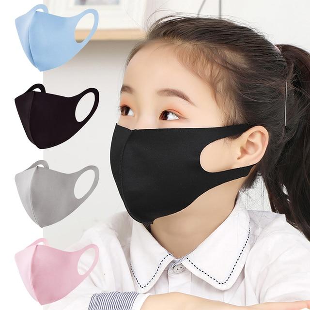 3Pcs Summer Cool Silk Mouth Mask Washable Dustproof Reusable anti-pollen Face Mask Children Kid for Child Kids Health
