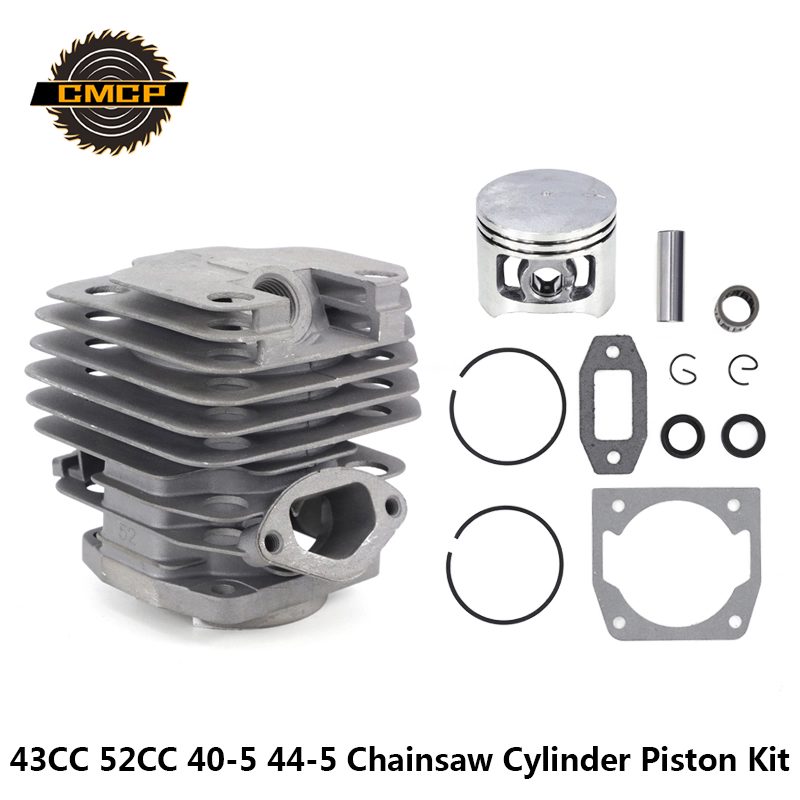 1set Cylinder Piston Kit Fit For Chainsaw 43CC 52CC 40-5 44-5 Chainsaw Cylinder And Piston Set Chainsaw Spares