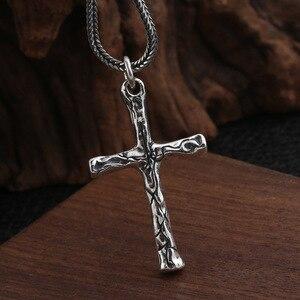Image 4 - Fnj Cross Hanger 925 Zilveren Originele Pure S925 Thai Zilveren Hangers Voor Sieraden Maken Mannen Vrouwen