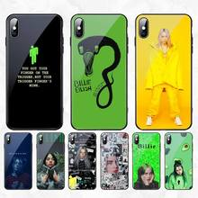 CUTEWANAN American singer Billie Eilish Phone Case Cover Tempered Glass For iPhone 11 Pro XR XS MAX 8 X 7 6S 6 Plus SE 2020 case cutewanan american drag queen aquaria phone case cover tempered glass for iphone 11 pro xr xs max 8 x 7 6s 6 plus se 2020 case