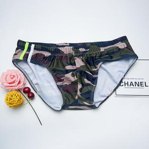 Swimsuit Men Briefs Shorts Fashion Breathable Quick-Drying Print