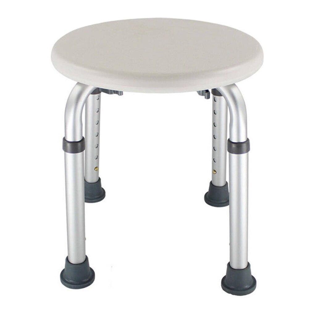 Okrągły starsze dom ciążowy Non Slip toaleta dla dzieci krzesło z regulacją wysokości niepełnosprawnych meble krzesełko do kąpieli stołek prysznicowy, łatwa do czyszczenia,