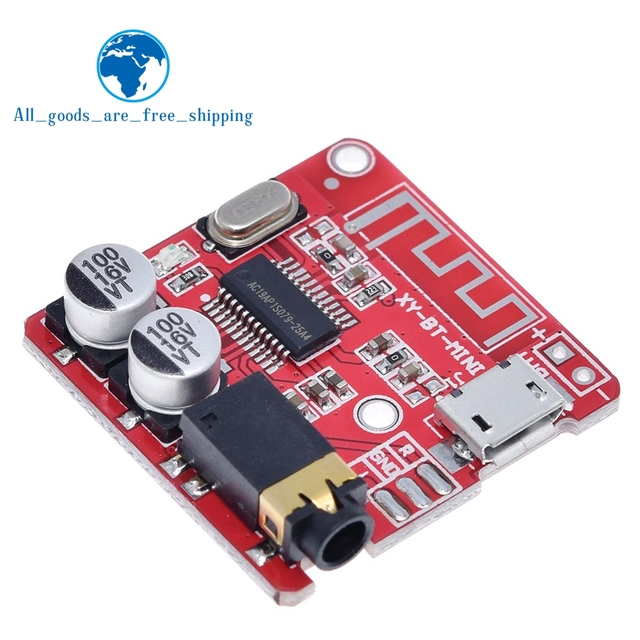 Placa receptora de áudio bluetooth 4.1, decodificador sem fio, stereo, módulo de música 3.7 5v, alto falantes sem fio