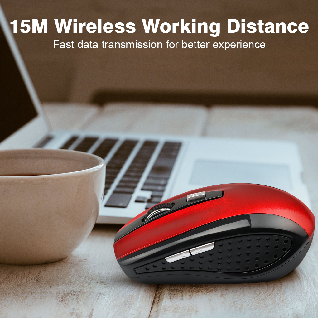 Wireless Mouse Durable Optical Computer Mouse Ergonomic Mice For Laptop Universal Computer Peripherals