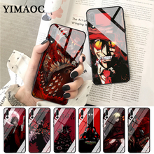 YIMAOC Anime Hellsing Alucard Fan Glass Case for Huawei P10 lite P20 Pro P30 P Smart honor 7A 8X 9 10 Y6 Mate 20 hellsing alucard cosplay red mens hellsing cosplay costume