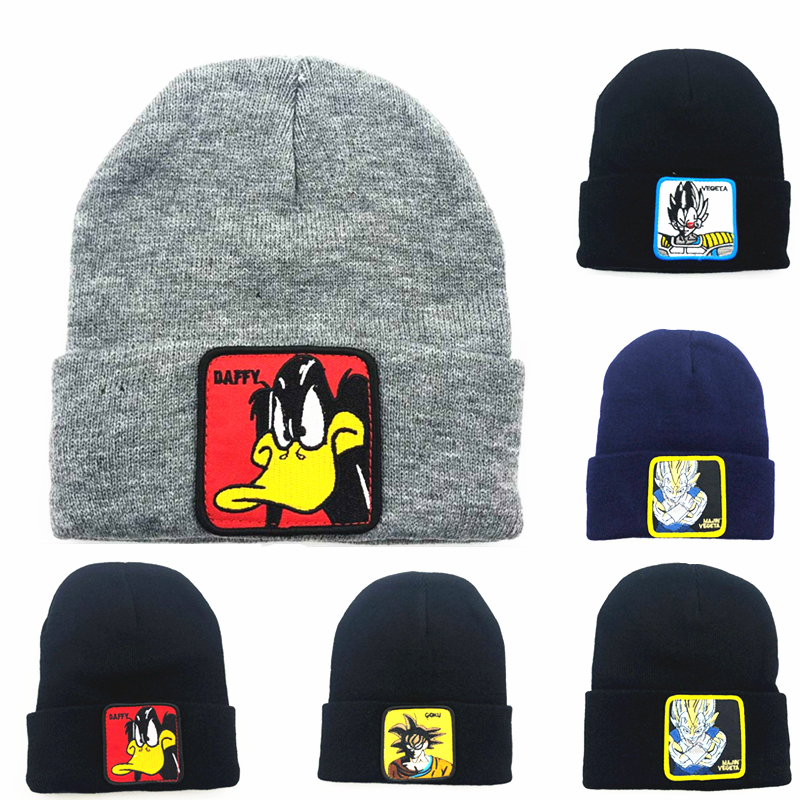 Knitting Hats Warm Beanie Anime Skiing New Winter Child Adult Logo Gorras Embroidery