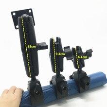 Montagem de garra resistente com braço de soquete duplo e adaptador de base de ampères redondos para garmin