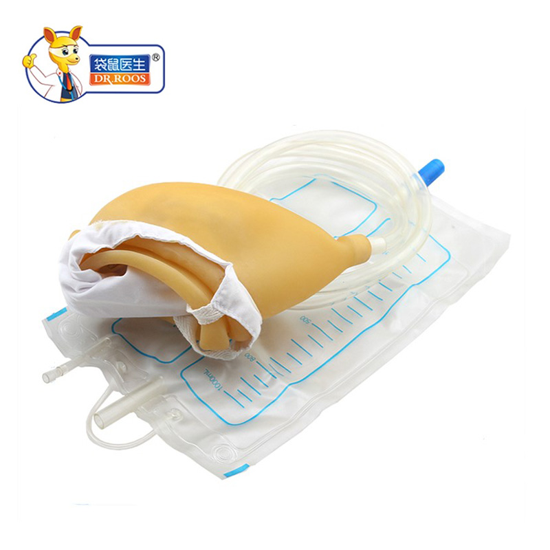 DR.ROOS 1 Pcs/ Box Female Urinal Pee Holder Collector For Urinary Incontinence Bedridden Patients Urination Catheter Bag