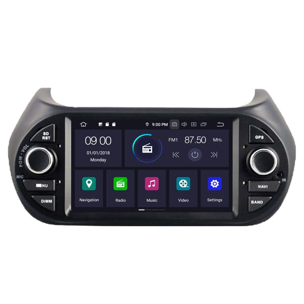 Sale RoverOne Car Multimedia Player For Fiat Fiorino Qubo For Citroen Nemo For Peugeot Bipper Android 9.0 Octa Core Radio Navigation 1