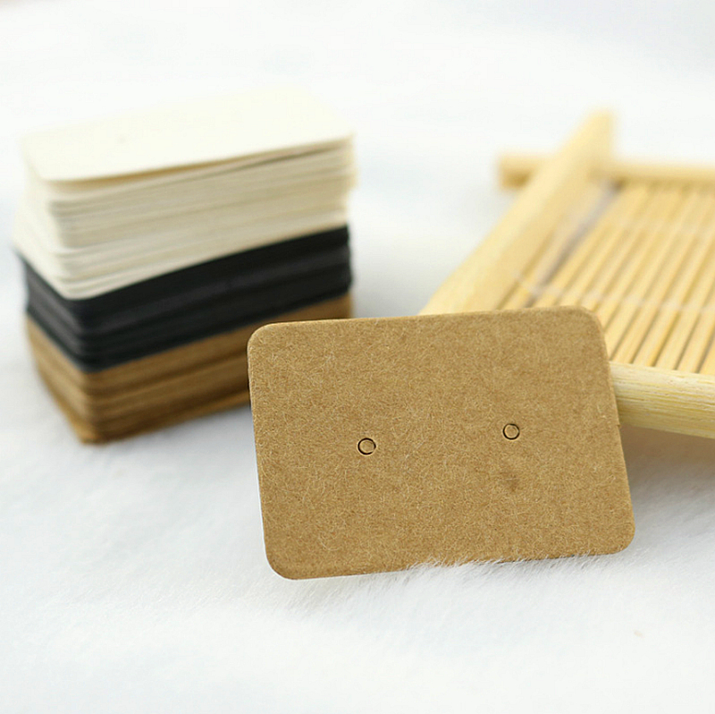 100PCS 3.5X2.5cm Multi Color Paper Cute Stud Earring HangTag Card Custom Logo Cost Extra Jewelry Display Packing Card