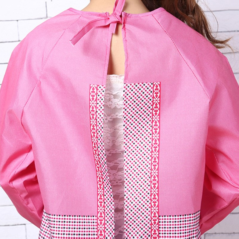 Korean-style Fashion Adult Protective Clothing Overclothes Kitchen Long Sleeve Apron Adult Bib Work Clothes Oil Resistant Waterp