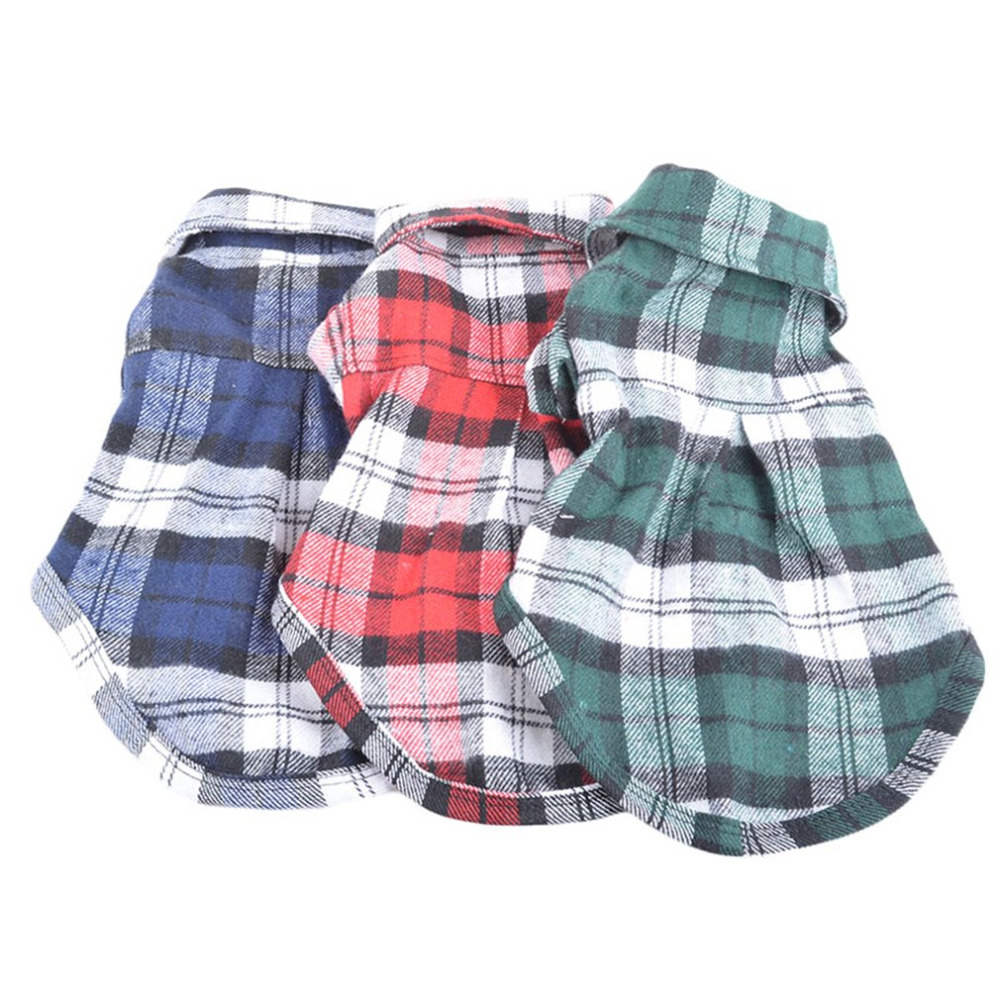 Spring Summer Dog Shirts  Plaid Dog Clothes Summer For Small Medium Puppy Pets Clothing Yorkies Chihuahua Clothes