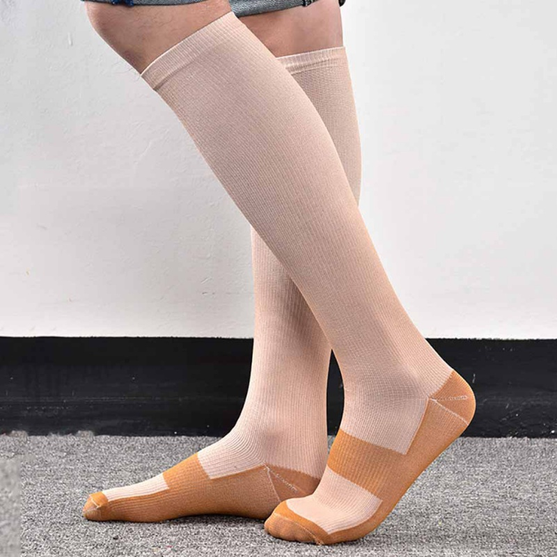 Men Support Knee High Sock Foot Anti Fatigue Soft Pain Relief Anti-Fatigue Compression Socks