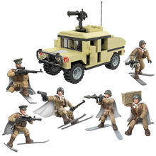 World War 2 WW2 Soldiers Armored Vehicle Military SWAT Army City Police Armored Vehicle Figures Building Blocks Kids Toys(China)