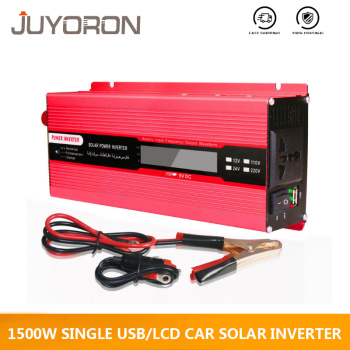 Single USB 1500W Watt DC 12V to AC 220V Car Power Inverter solar Charger Converter Adapter Modified Sine Wave LCD screen 1