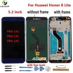 Dla Huawei Honor 8 Lite wyświetlacz LCD + ekran dotykowy narzędzia Digitizer panel ramka dla Huawei Honor 8 Lite PRA LA1 PRA LX1 PRA LX3 w Ekrany LCD do tel. komórkowych od Telefony komórkowe i telekomunikacja na