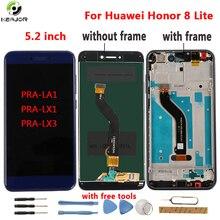 Para huawei honor 8 lite display lcd + ferramentas de tela toque digitador quadro painel para huawei honor 8 lite PRA LA1 PRA LX1 PRA LX3