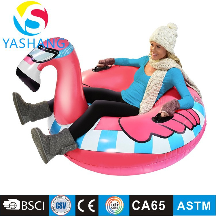 Multifunction Cold-resistant Pvc Inflatable Single Adult Flamingo Ski Ring Ski Tire Inflatable Ski Ring