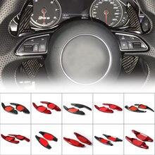 De fibra de carbono de volante de coche paleta Cambio de palanca para Audi A3 RS3 A5 RS6 A4 A6 R8 A7 Q3 A8 Q5 S5 Q7 S6 TT S7 TTS S8