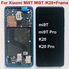 "100% супер AMOLED оригинал для 6,39 ""Xiaomi Mi 9T Pro Mi 9T/ Redmi K20 K20 Pro ЖК экран рамка + сенсорная панель Оцифровка"