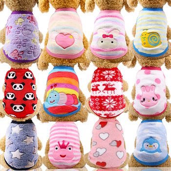 Fleece Clothes for Dog Clothes for Small Dogs Clothing for Pet Cats Costume Chihuahua Outfit Winter Warm Pets Clothing Coat