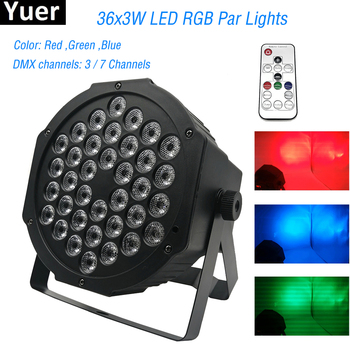 hot 2015 par led 54x3w flat led par can light high power rgbw stage lights with dmx512 master slave dj disco dmx home equipments 2019 New Professional LED Stage Lights 36 LED RGB PAR DMX Stage Lighting Effect DMX512 Master-Slave Flat for DJ Disco Party KTV