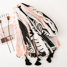 Tropical Wind Women Scarf New Fashion Leaf Printing Shawls for Ladies Bufandas Invierno Mujer Ponchos Capes Pashmina Head