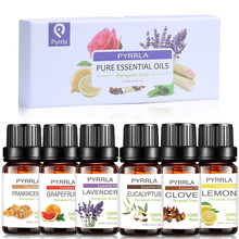 Pyrrla 10ML 6pcs /Lot Pure Essential Oils Gift Set Humidifie