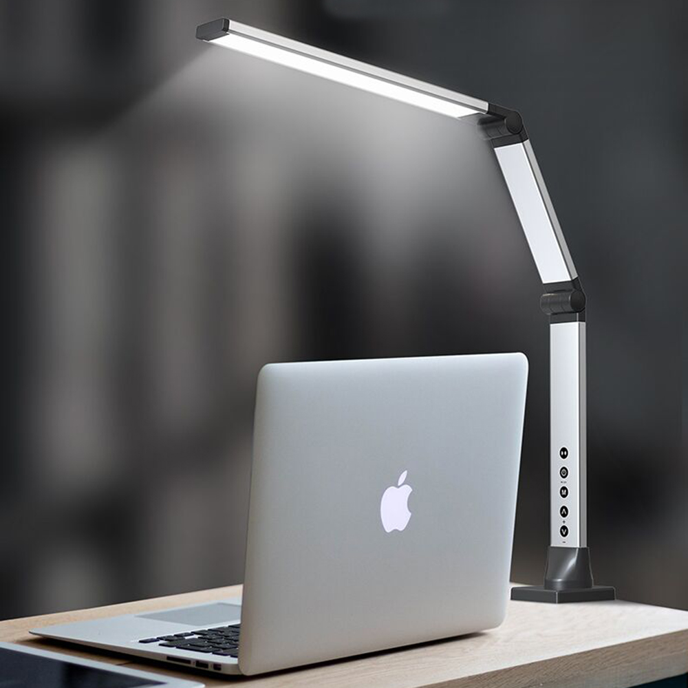 Artpad Super Bright 12w Eyecare Study Reading Lamp with Remote <font><b>Control</b></font> Dimmable Foldable Bedside Book Light No Strobe Godd Gift image