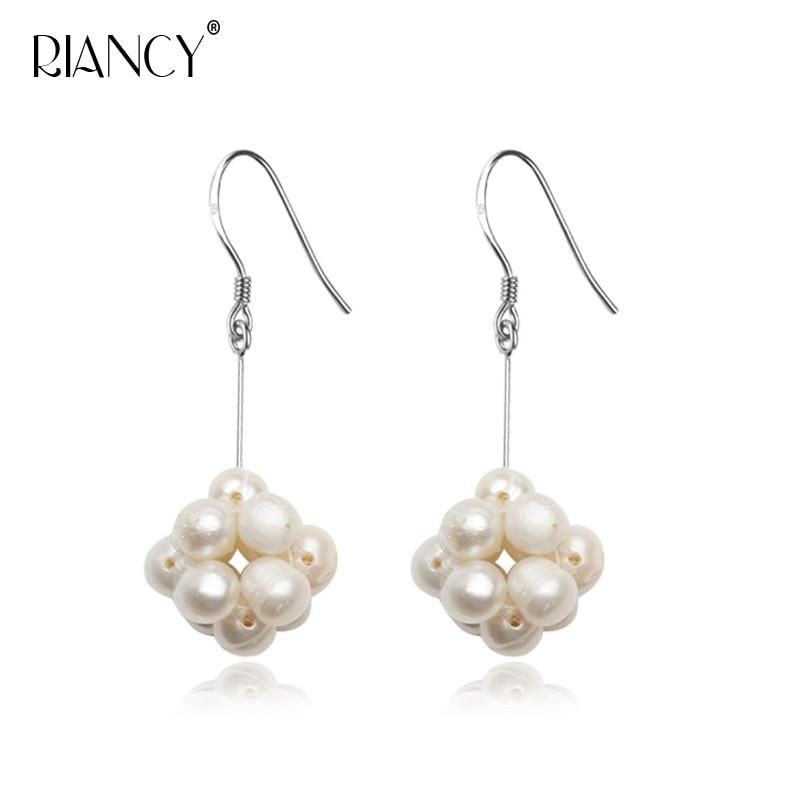 Fashion natural freshwater white Pearl Earrings pearl Spherical pink purple  earrings original handmade jewelry