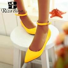 RIZABINA Plus Size 30-49 6 Color Women Flats Shoes