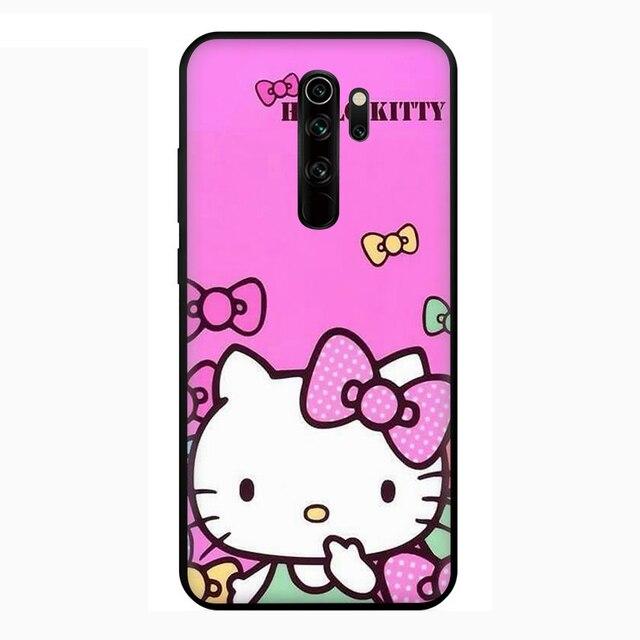 Mignon bonjour kitty étui de téléphone en Silicone pour Xiaomi Redmi Note 4 4X 5 6 7 8 9 Pro Max 8T 9S 5A Prime