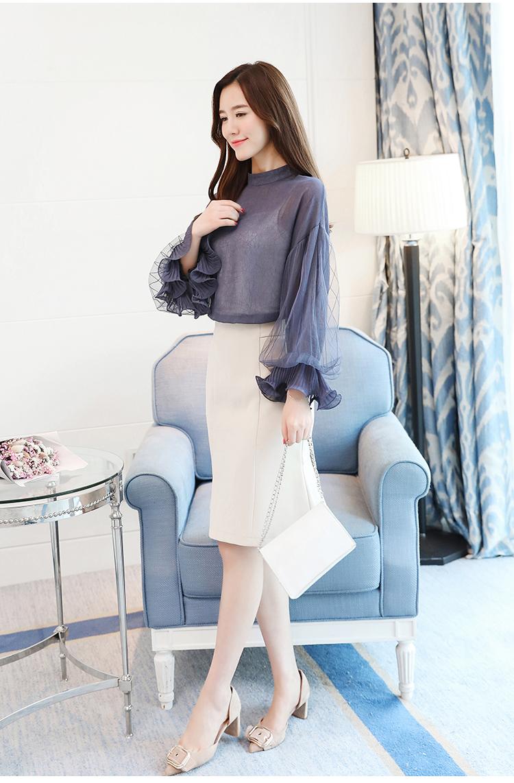 2019 Women tops and Blouses ruffless Summer autumn Long Sleeve White Shirt Casual Female Chiffon Blouse Women Clothing plus size 32