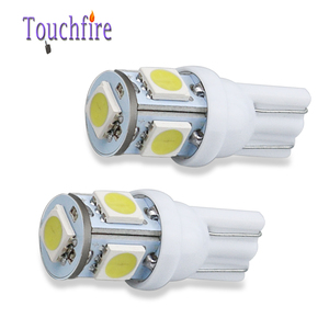Image 3 - 100PCS 5LED Car Bulb T10 194 W5W 5050 SMD Parking Dome Signal Side lamp trunk White Blue Yellow Light 12V wholesale Dropshiping