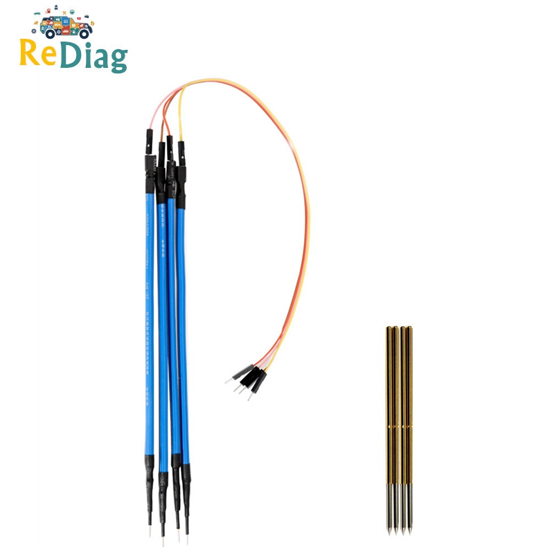 Replacement Probe Pin 4pcs Set Works LED BDM Frame With Connect Cable 4 Needles Good Helper For KESS KTAG et Free Shipping