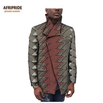 Afripride Ankara Print Men's Jacket Tailor Made Full Sleeves Single Breasted Cotton Jacket for Men A731403
