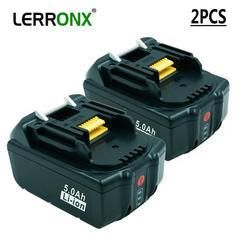 2 шт. BL1850 BL1830 аккумуляторная батарея 18V 5A литий ионный аккумулятор с светодиодный светильник для Makita LXT400 194204-5 194230-4 Замена батареи