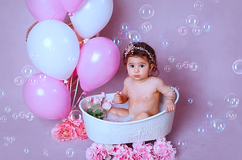 Multifunction Can Fill With Water Iron Shower Bathtub Newborn Photography Props Shooting Baby Bathtub Cotton Lovely  Prop