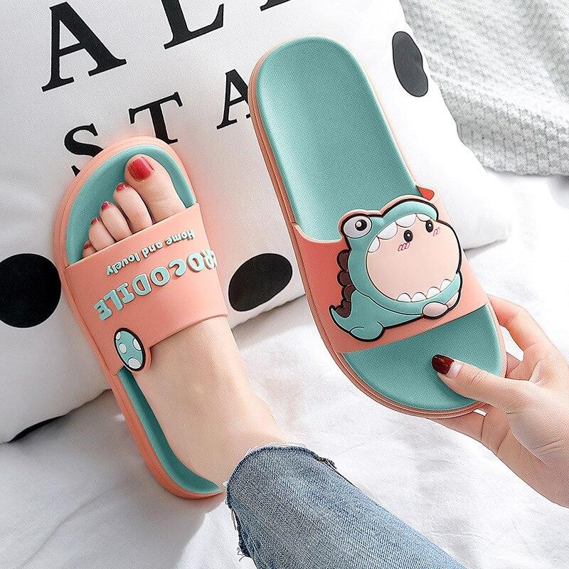 Тапочки с героями мультфильмов; Нескользящие домашние Тапочки для ванной; Мужские домашние тапочки; Удобные резиновые тапочки; Мужская домашняя обувь для женщин|Тапочки|   | АлиЭкспресс