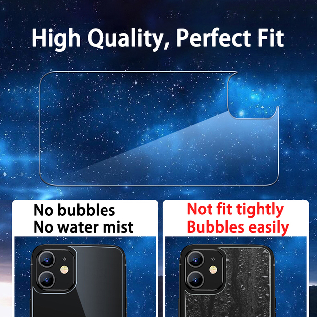 3in1 Front+Back+Lens Full Cover Protective Tempered Glass For iPhone 12 Pro 11 Pro Max 12 Mini Clear Screen Protector Glass Film 4